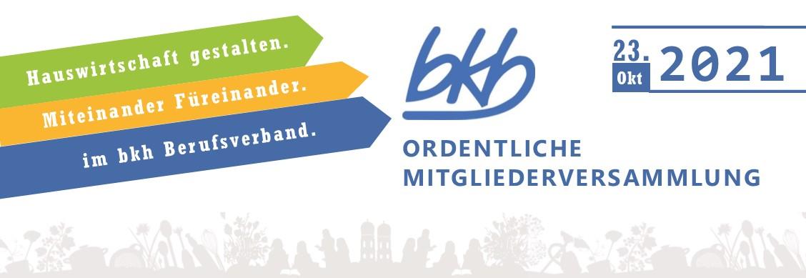 Ordentliche Mitgliederversammlung des bkh – Bundesverband
